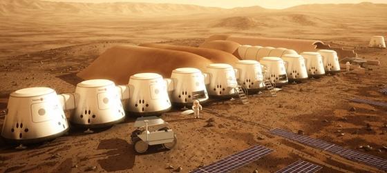 Így nézhet ki egy jövőbeli Mars-kolónia