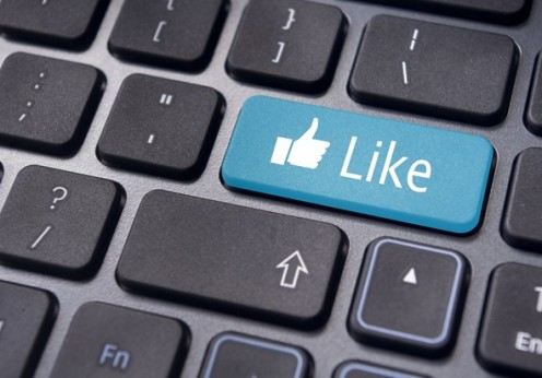 17297536 - a like message on enter keyboard for social media concepts.